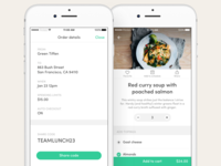 Food delivery & discovery - Meal ordering and order details