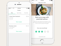 Food delivery & discovery - Order history and meal rating