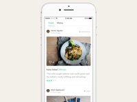 Food delivery & discovery - Social feed view
