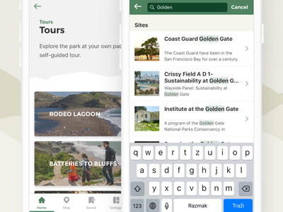 National Park Service - Mobile app redesign search tour trail guide app park national park service nps national park