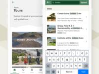 National Park Service - Mobile app redesign