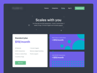 Chatbot service pricing page