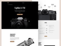 Camera product page