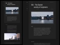Architecture Studio website - Dark version