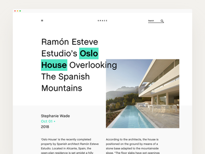 Oslo House bien highlight chalet web layout architecture