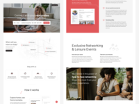 Booking service landing page
