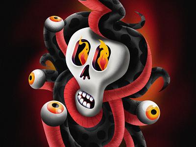 Snake Eyes drawing eyes snake skull digitalart illustration art digital painting illustration illustrator