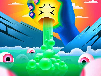 The Squeeze colorful socialmedia emoji digitalart design drawing digital painting illutration illustration art