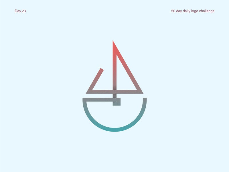 Boat logo gradient logo boat logo boat vectorart logo logos dailylogodesign dailylogochallenge dailylogo illustrator vector illustration design