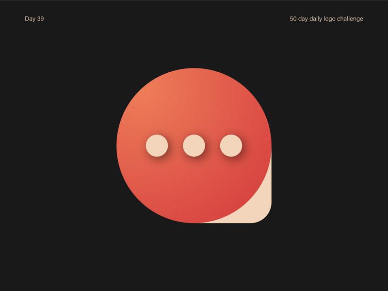Messaging App Logo minimal pingpong branding ui logo vectorart illustrator dailylogochallenge dailylogo vector design illustration