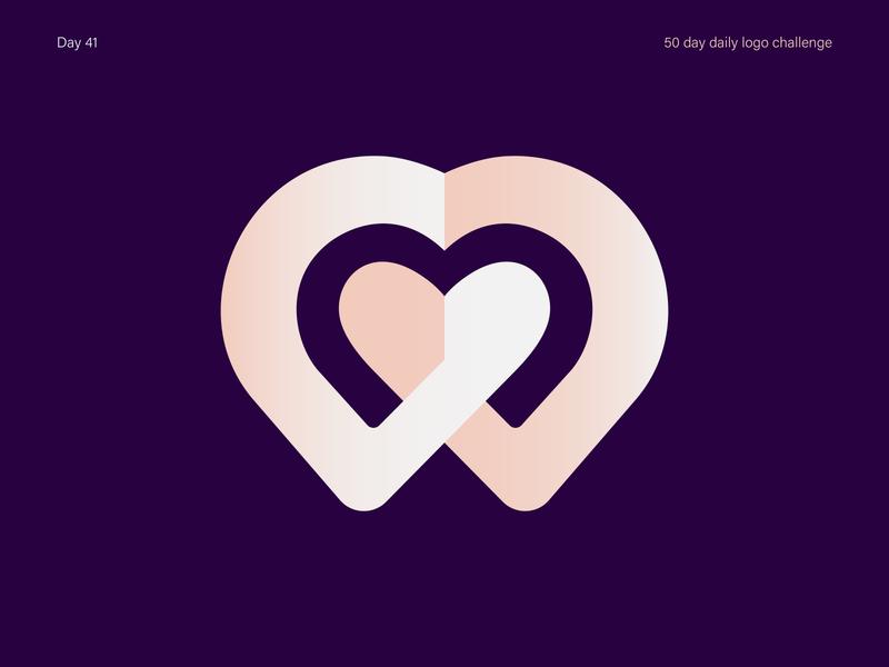 Dating App Logo datingapp minimal branding dailylogodesign logos logo vectorart illustrator dailylogochallenge dailylogo vector design illustration