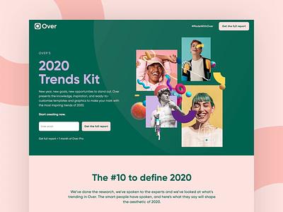 Over's 2020 Trends journeys ui design ux art direction webflow ui trends trends 2020 landingpage