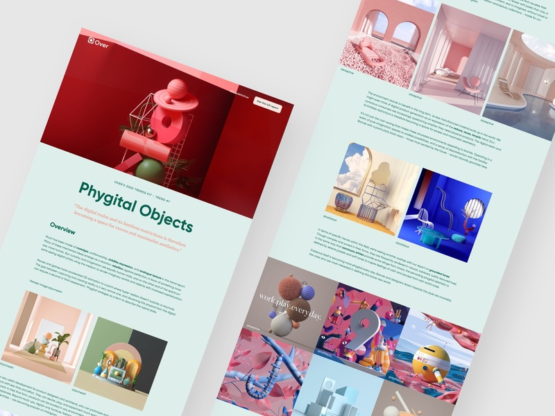Over Design Trends - Phygital Objects website design design webflow phygital design trends