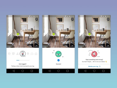 Tagging process visual cues image-sharing user-generated social android app ui user-interface