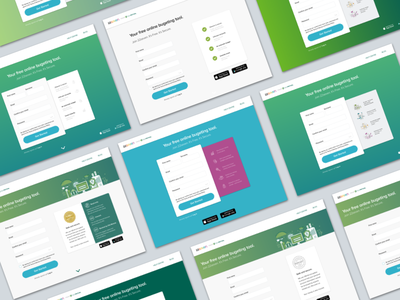 10 shades of signup 22seven illustrations icons gradients ui sign up variations web