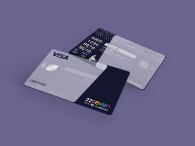 Transparent Bank Card Design digital banking visa quick read numbers 22seven bank card transparent