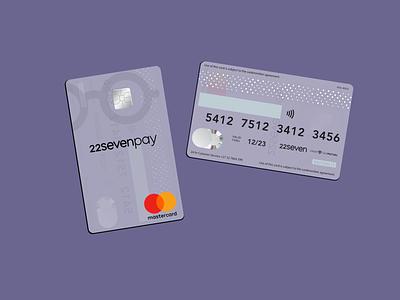 22sevenpay Card transparent card magic mirror sketch mastercard transparent bank card 22seven