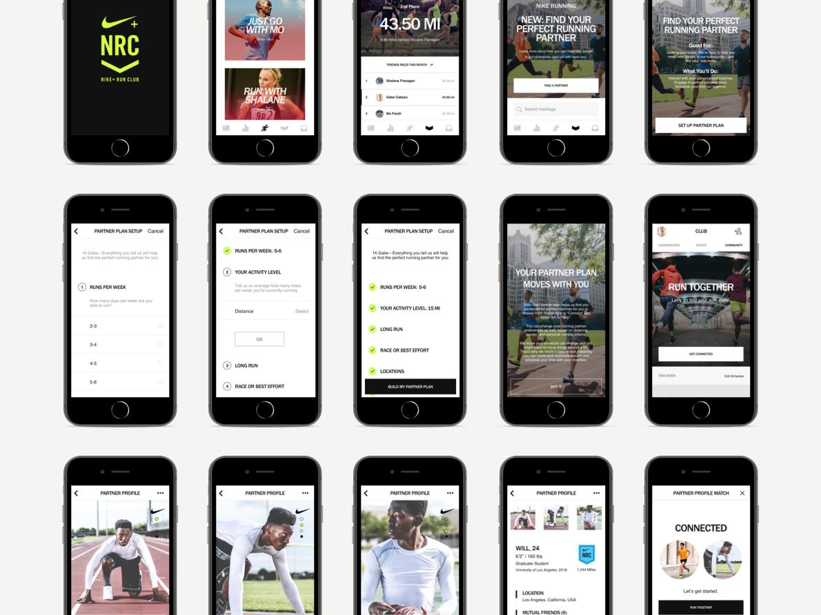 fábrica auténtica muchos de moda buscar el más nuevo Nike+ Run Club x Tinder Mobile App Concept by Monica Thy Nguyen on ...
