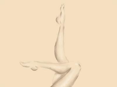 Legs painting digital