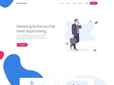 Concept: Landing page - Marketing web design design art landing page design landing page