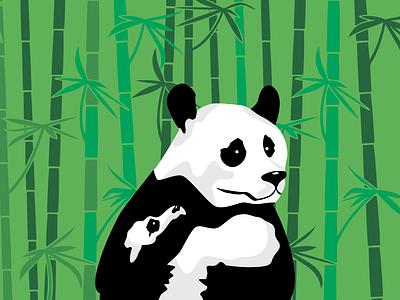 Panda Bear and her baby color panda creative vector adobe adobeillustrator drawing illustrator art illustration