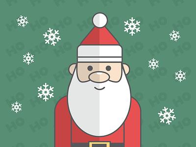 Santa Claus flat design icon christmas color vector flatart drawing illustrator art illustration santa claus santa