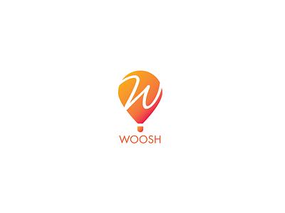 Woosh Balloon Logo design creative color adobeillustrator art illustration brand branding logo design designer logobest logo inspiration logo