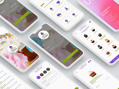 ChrisMis Cupcakes - Branding logo uidesign color design vector branding and identity logo design branding