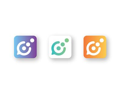 Logo Design: Chat social media app (concept) chat app branding logo design design logo