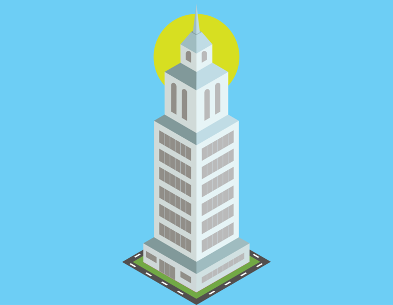 Cityscape Isometric vector illustrator city building drawing illustration isometric