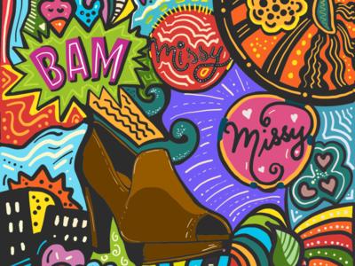 Shoe obsession doodle sketch shoes creative color adobe design adobeillustrator drawing illustrator art illustration
