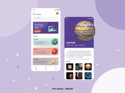 Space App uiux challenge space ui ux figma design app