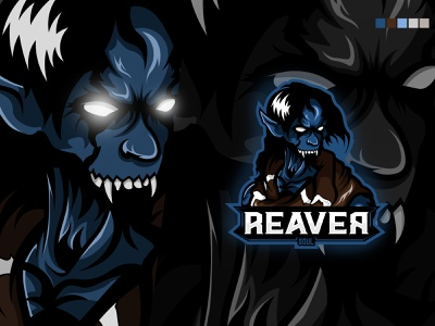 Mascot Logo Esport esportlogo branding art 2d reaver soul raziel legacyofkain vampire design esports mascot mascotlogo mascot logo