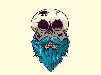 skull hipster illustrator