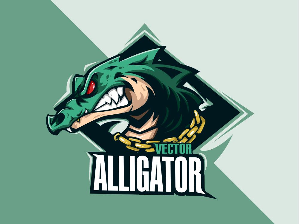 Alligator vector esports logo esport branding vector logo design illustration