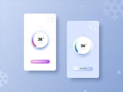 Body temperature monitoring icon applet ux typography app illustration design ui