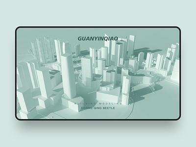 3D Map illustration design ui