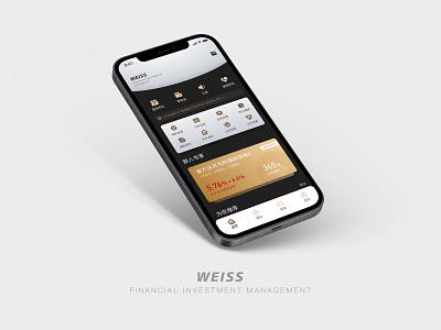 Financial management icon app ui design