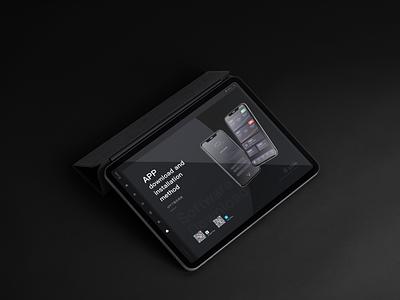 Intelligent device management background system typography web design app design ui