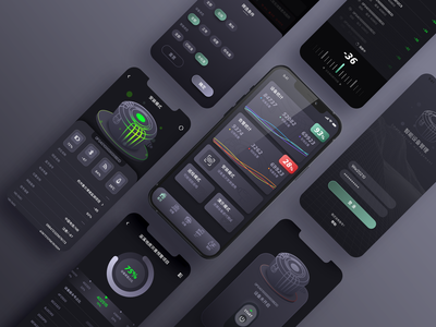 Smart Device Management APP typography app design ui