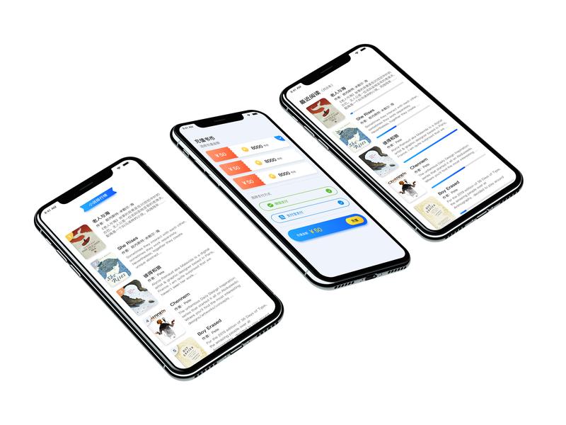 YOU-Fiction UI app design ui