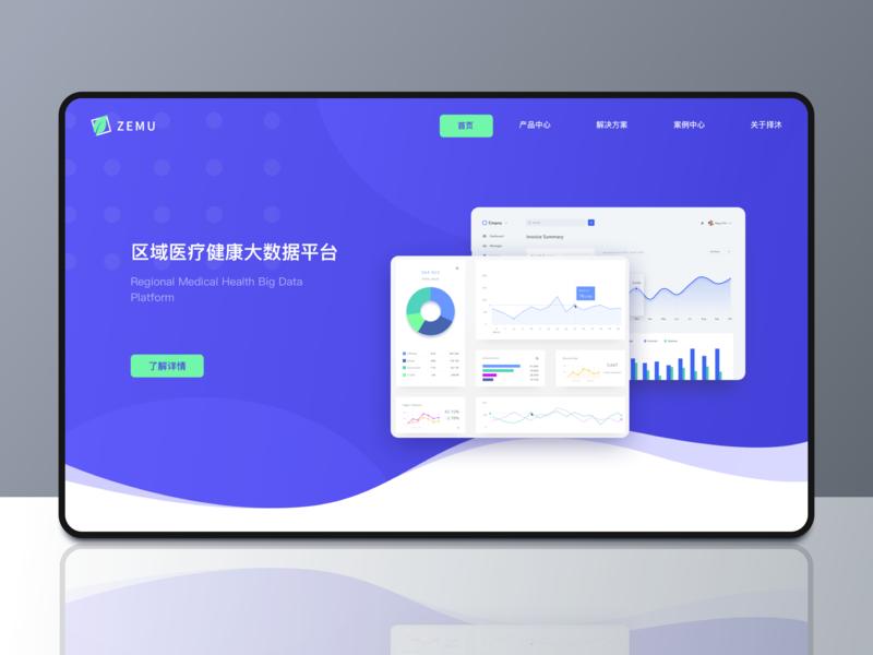 ZEMU official website design web design ui illustration design
