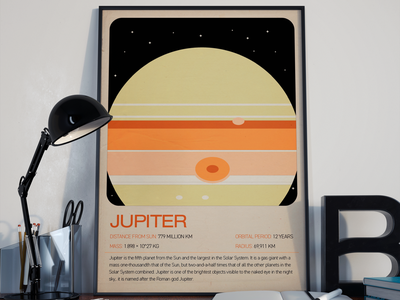 Jupiter Poster (Feedback Welcome) design typography print poster design poster graphic design