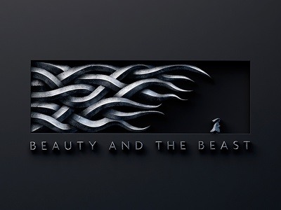 Beauty & the Beast #2 edges sharp letter strong smooth shiny render metal