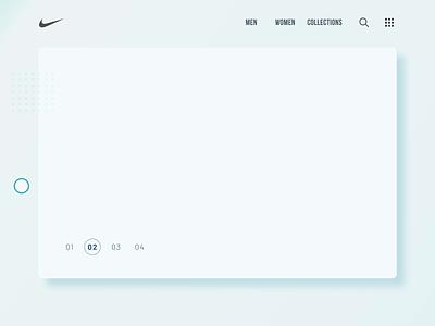 Nike Shoe-concept ecommerce design shoe interaction design interface simple concept minimal ux ui clean