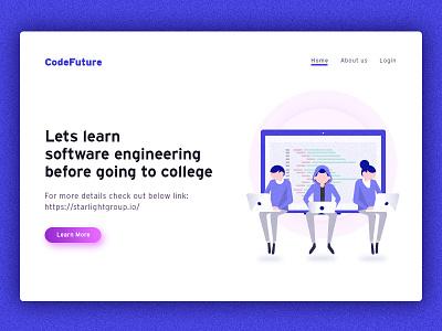 Engineering Banner coding engineering fresh colors banner fresh ui web illustration