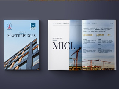Corporate Brochure Concept mock-up brochure design clean minimal real estate branding concept layout typogaphy