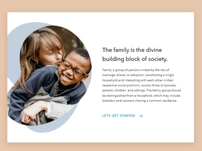 Family section clean design simple concept minimal website ui family