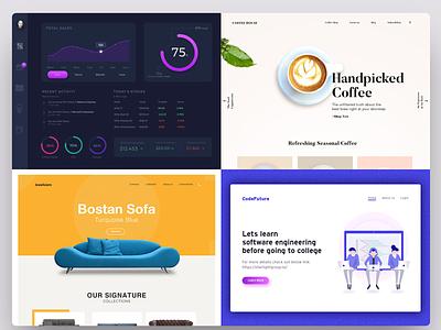 My Top 4 Shots minimal illustration dashboard design interface ux website clean