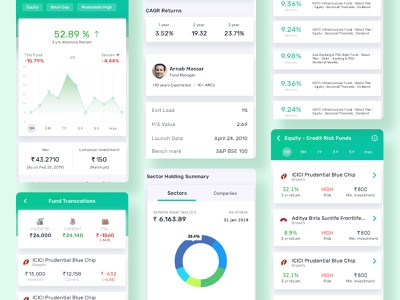 Finance App mobile ui finance app design minimal website ux ui clean